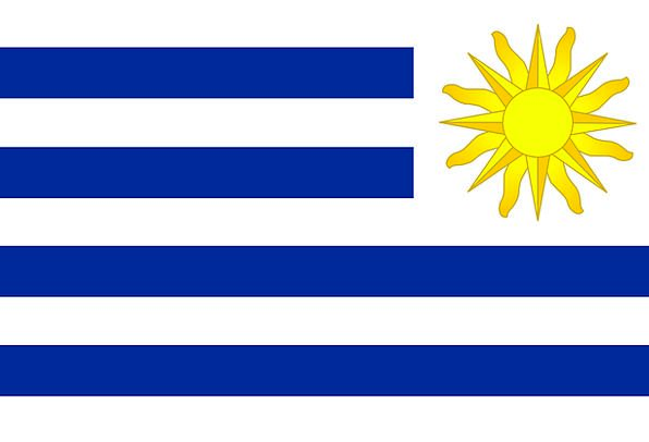 Uruguay Standard Symbol Sign Flag Country Republic