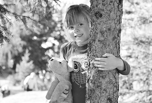 Child Youngster Lassie Forest Woodland Girl Teddy