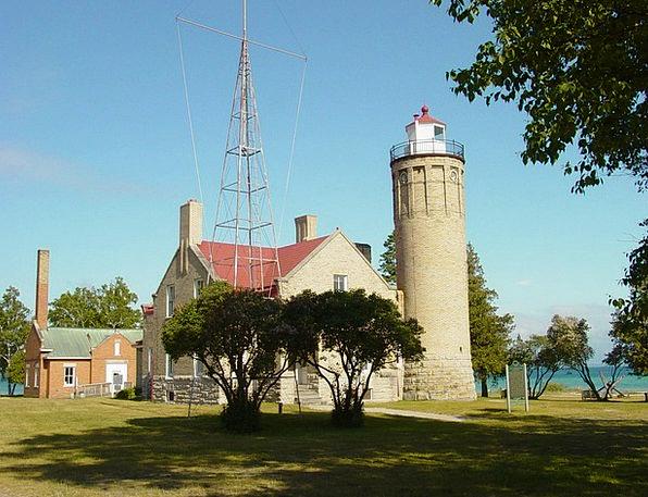 Mackinaw City Lighthouse Buildings Architecture Li