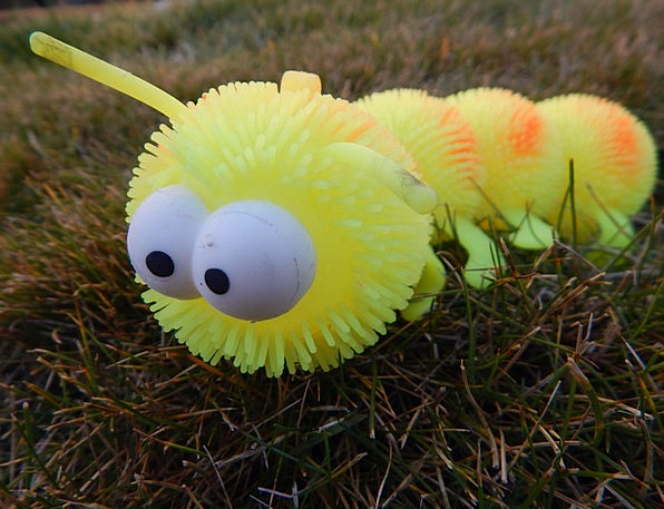 Caterpillar Worm Doll Yellow Creamy Toy Fun Insect