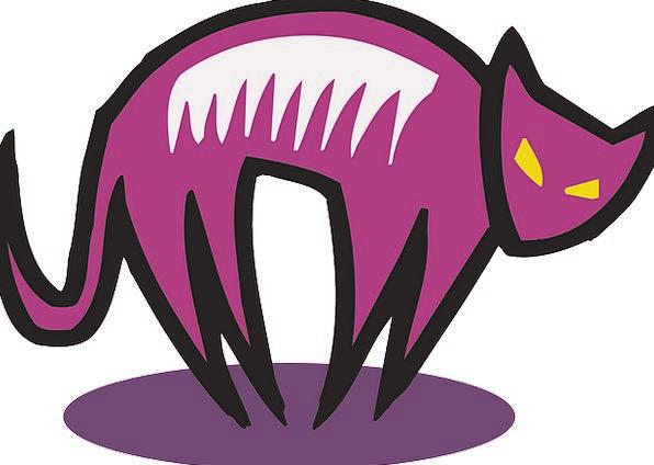 Cat Feline Elaborate Style Chic Purple Halloween S