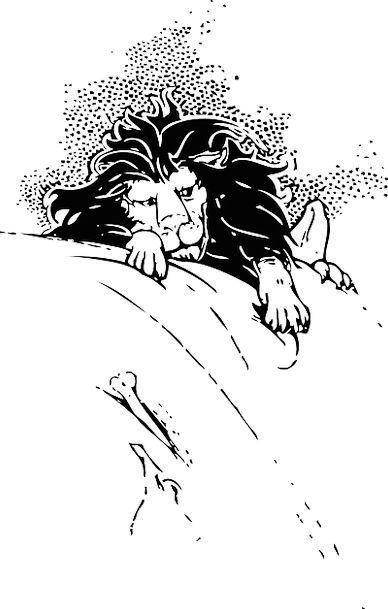 Lion Swarming Climbing Uphill Crawling Free Vector