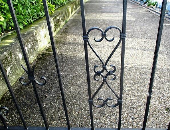 Garden Gate Certain Ornament Decoration Cast Iron
