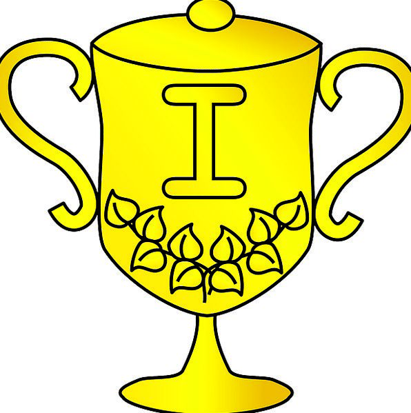 Trophy Golden Excellent Award Achievement Winner V