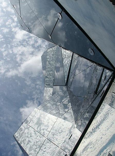 Futuroscope Buildings Architecture Mirror Glass Po