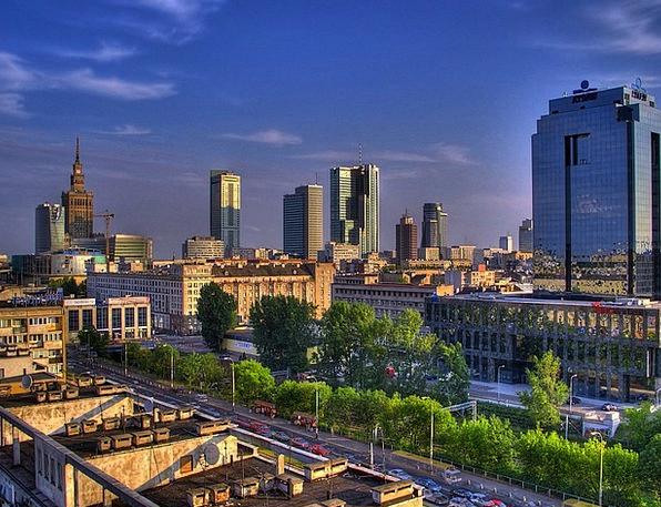 Warsaw Buildings Architecture City Poland Clouds U