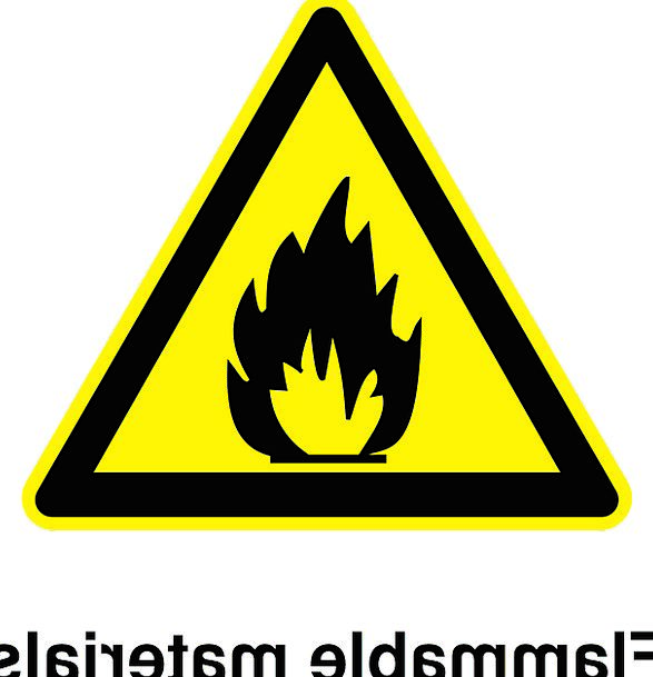 Inflammable Ciphers Danger Hazard Signs Free Vecto