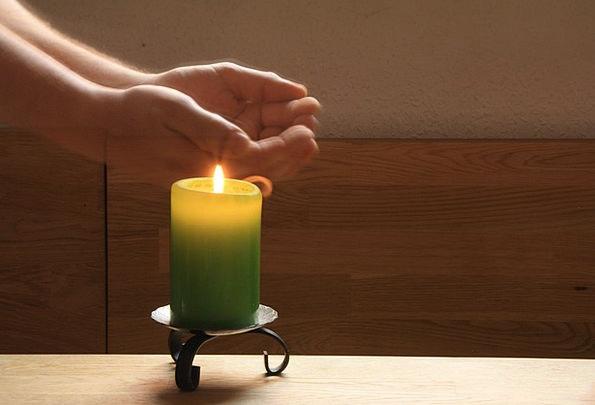 Light Timer Blaze Candle Taper Flame Light Bright
