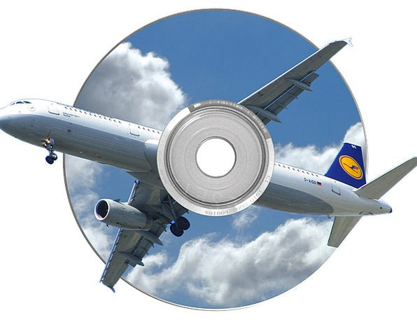Photo Montage Disc Dvd Cd Travel Fly Hover Film Cl