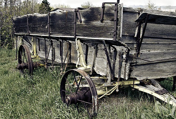 Wagon Carriage Traffic Worn Transportation Wooden