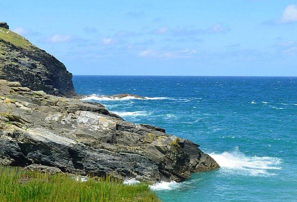 Cornwall Vacation Coastal Travel Beach Seashore Se