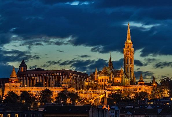 Budapest Ecclesiastical Architecture Church Cloudy