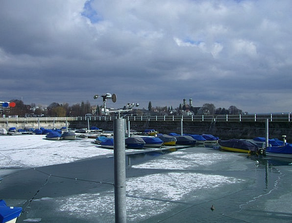 Boat Harbour Ice Frost Friedrichshafen Boats A Din
