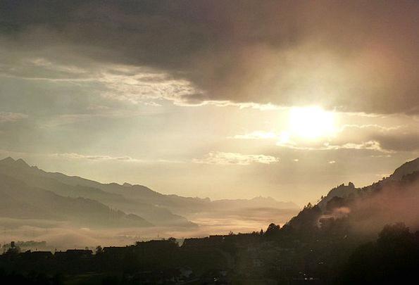 Morgenstimmung Landscapes Vapors Nature Mountains