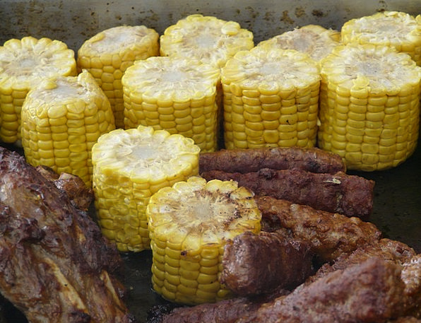 Corn On The Cob Barred Barbecue Grilled Grill Grat