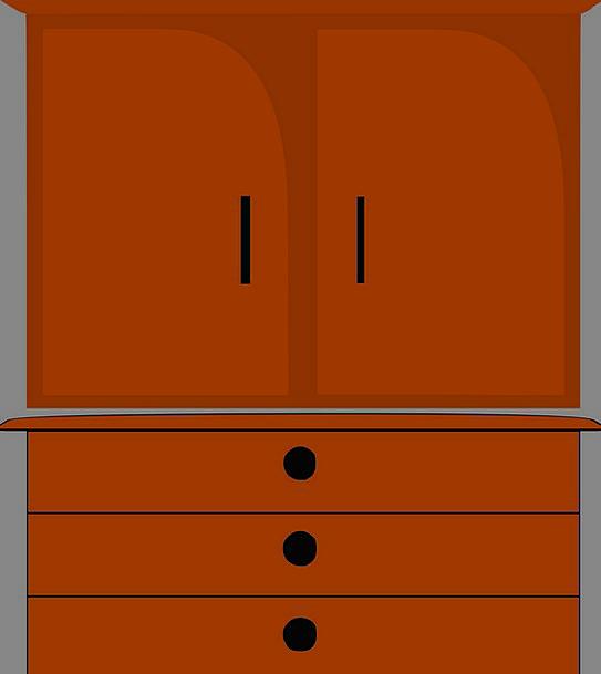 Furniture Equipment Cupboard Storeroom Dresser War