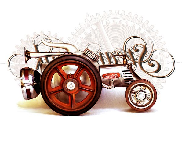 Tractor Traffic Car Transportation Steam Engine Tr