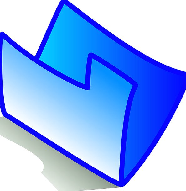 Empty Unfilled Binder Blue Azure Folder Theme Melo