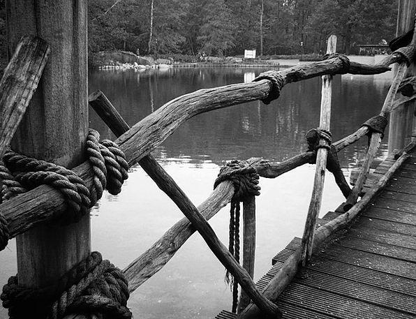Rope Cord Landscapes Bond Nature Water Aquatic Bri
