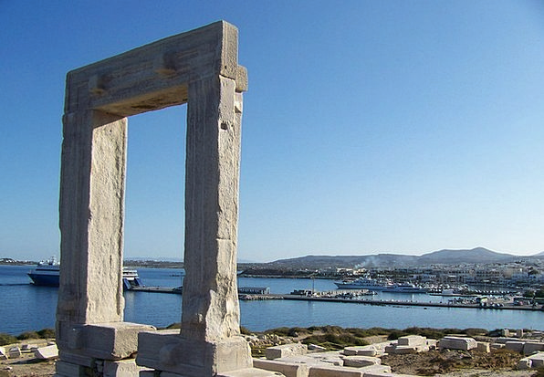 Cyclades Buildings Entry Architecture Portal Gatew
