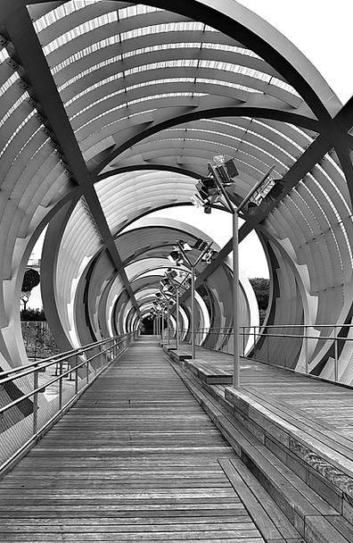 Madrid Bridge Structure Stream Arganzuela River Br