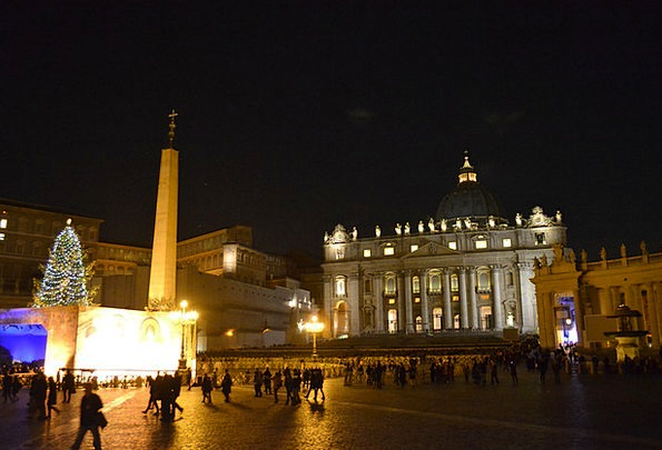 Rome Place Home Italy Night Nightly Christmas