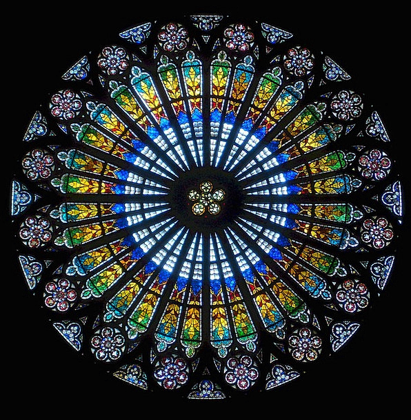 Rose Window Buildings Architecture Strasbourg Stra
