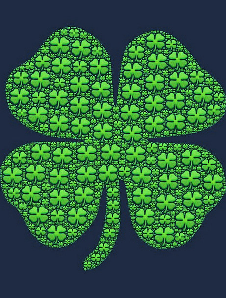Shamrock Green Lime Four Leaf Clover Symbol Luck F