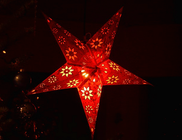 Star Interstellar Decor Decoration Poinsettia Chri