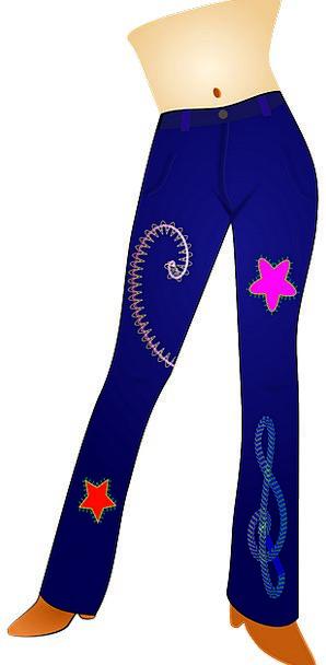 Pants Chinos Fashion Style Beauty Blue Azure Fashi