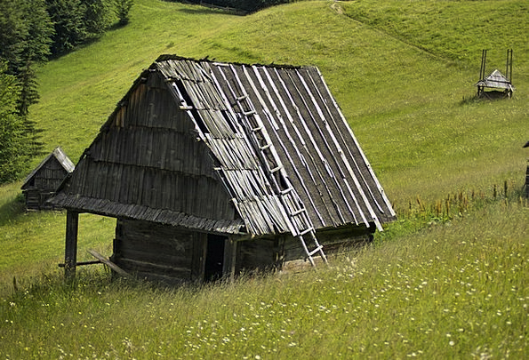 Romania Landscapes Field Nature Chalets Cabins Mea