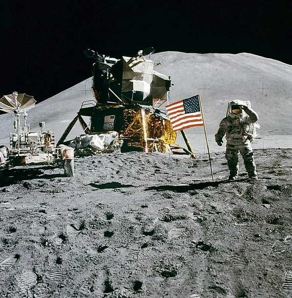 Space Station Spacecraft Apollo 15 Moon Landing Na