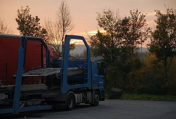 Raststätte Traffic Car Transportation Morgenstimmu