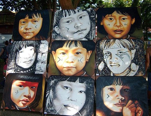 Indians Brazil Embu Art Painting