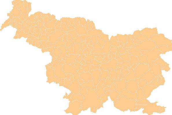 Slovenia Republic Map Chart Country Municipalities