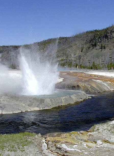 Yellowstone National Park Landscapes Nature Usa Wy