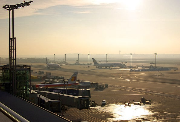 Airport Airfield Prior To Before Frankfurt Aircraf