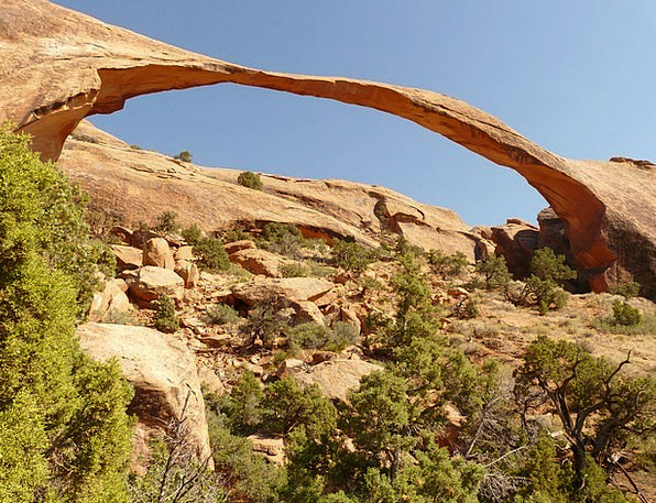 Landscape Arch Usa Arches National Park Utah Moab