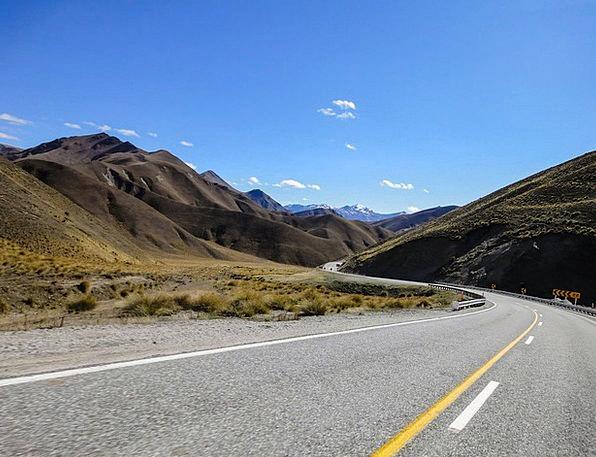 New Zealand Traffic Street Transportation Mountain