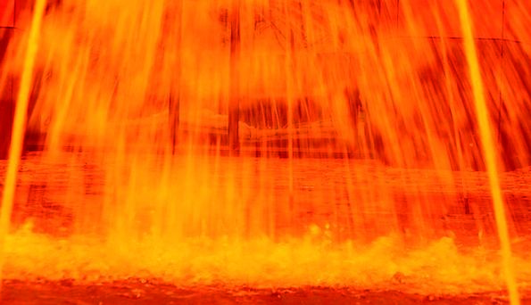 Fountain Cascade Movement Fire Passion Flow Red Bl