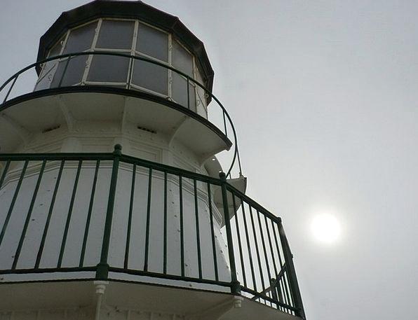 Lighthouse Cloudy Overcast California Fog Upwards