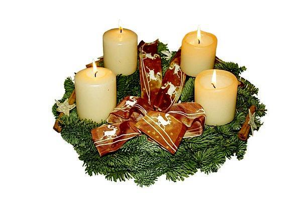 Advent Wreath Arrival Christmas Advent Holly Arran