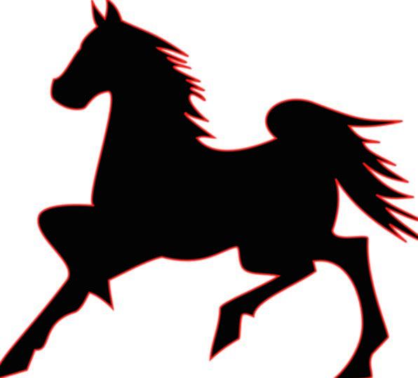 Silhouette Outline Mount Black Dark Horse Wildlife