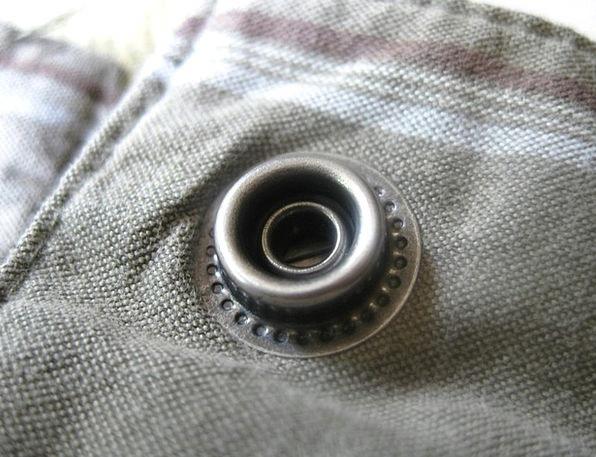 Eyelet Hole Pin Push Button Rivet Metal Metallic B