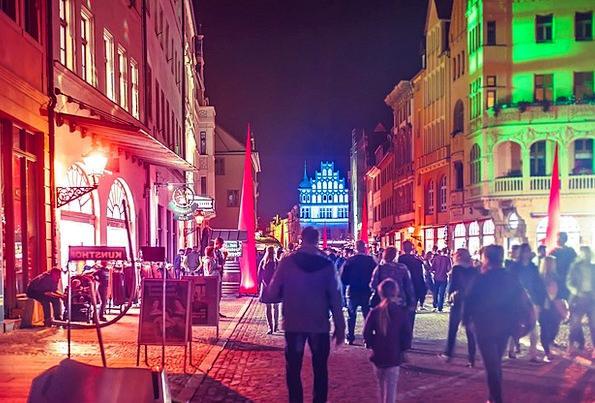 Festival Of Lights Buildings Urban Architecture Ci