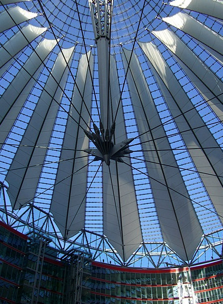 Sony Midpoint Potsdam Place Center Dome Vault Glas