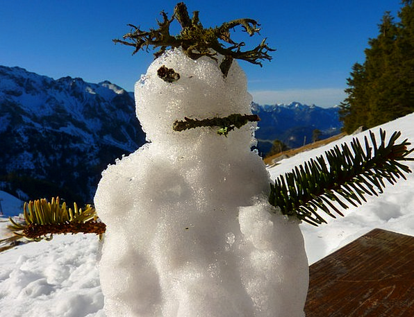 Snow Man Spirit Soul Mountain Spirit Winter Season