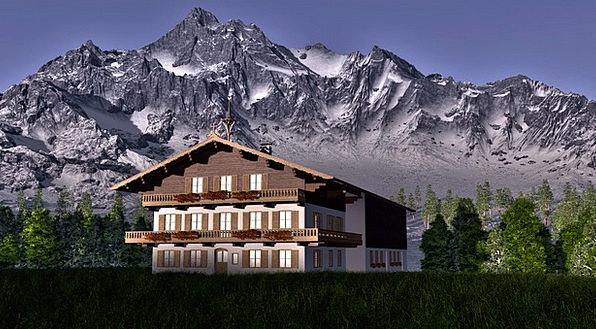 Alpine Mountains Buildings Crags Architecture Hous