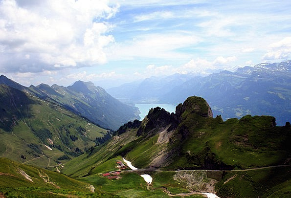Bernese Oberland Landscapes Crags Nature Alpine Mo
