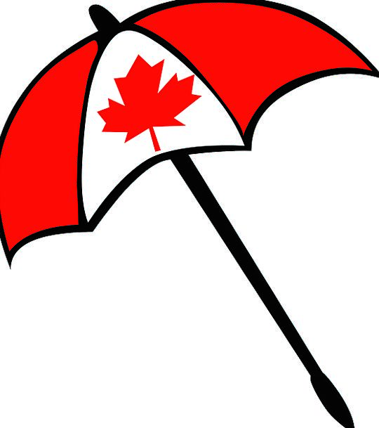 Umbrella Canopy Maple Leaf Canada National Symbol